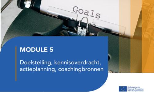 LJ5: Doelstelling, kennisoverdracht, actieplanning, coachingbronnen